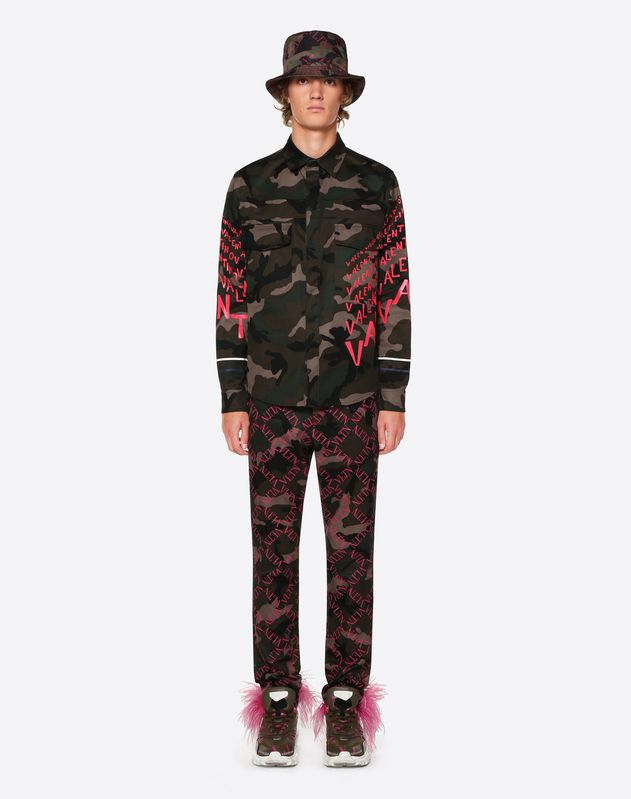 CAMOUFLAGE AND VALENTINO CHEVRON SHIRT