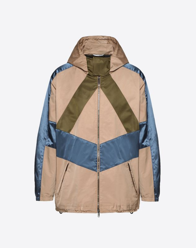 CONTRAST COLOR-BLOCK WINDBREAKER