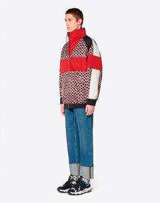 CONTRAST COLOUR-BLOCK BLOUSON