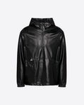 HOODED LEATHER ANORAK