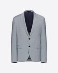 SLIM JACKET WITH CONTRASTING PLACKET