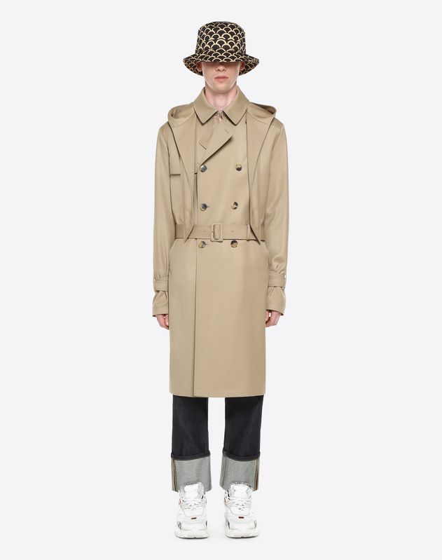 LOOSE WOOL TRENCH COAT