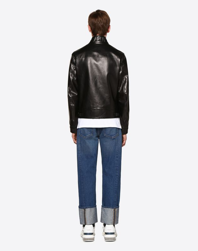 VLTN DETAIL LEATHER BLOUSON