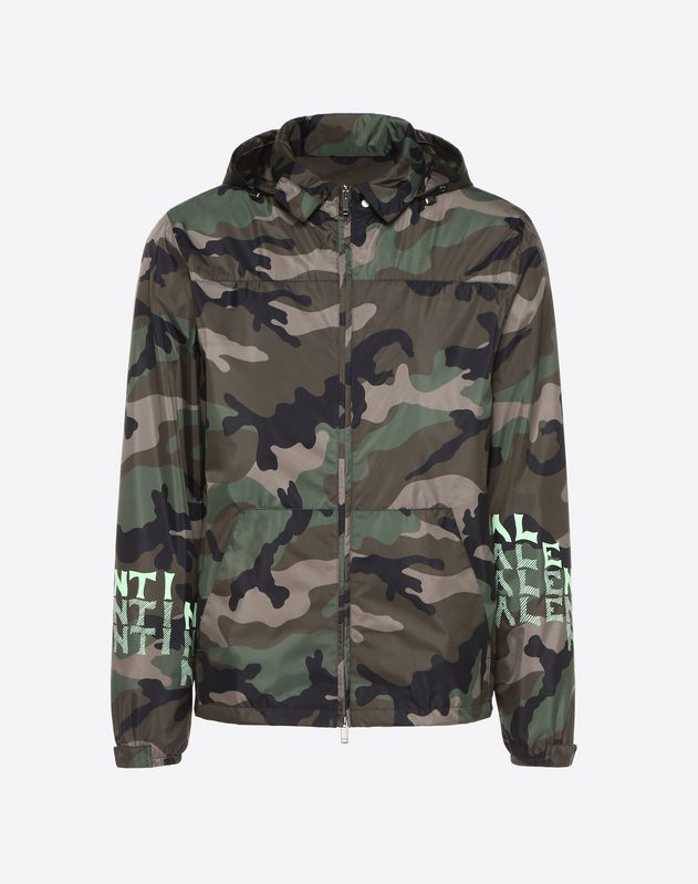 V FOR VALENTINO PRINT WINDBREAKER