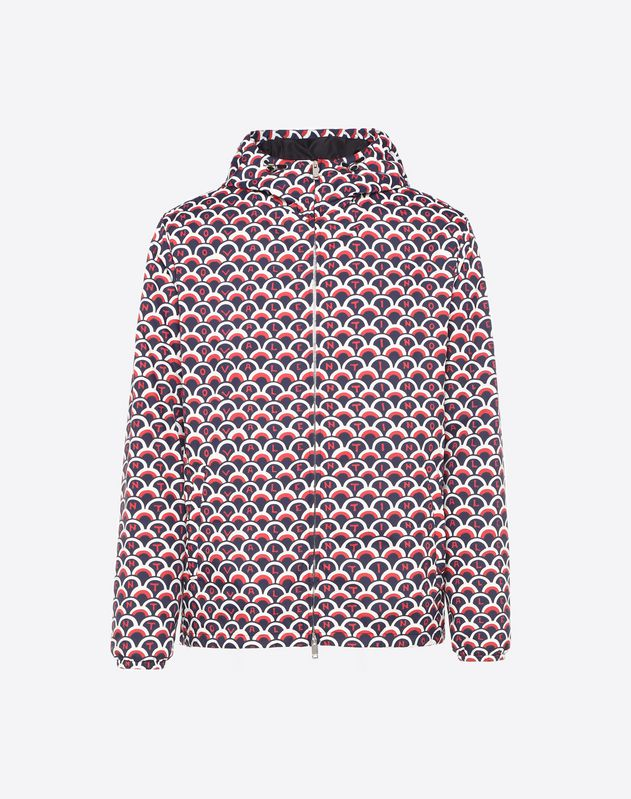 VALENTINO SCALE PRINT WINDBREAKER