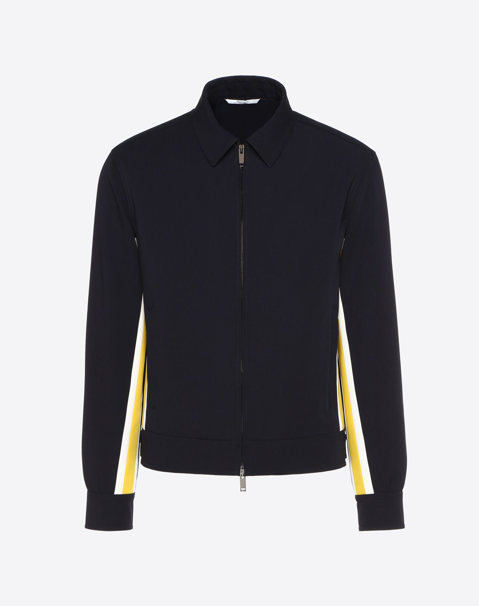 BLOUSON WITH CONTRASTING SIDE STRIPES