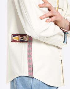 OUTWEAR SHIRT WITH GEOMETRIC EMBROIDERY