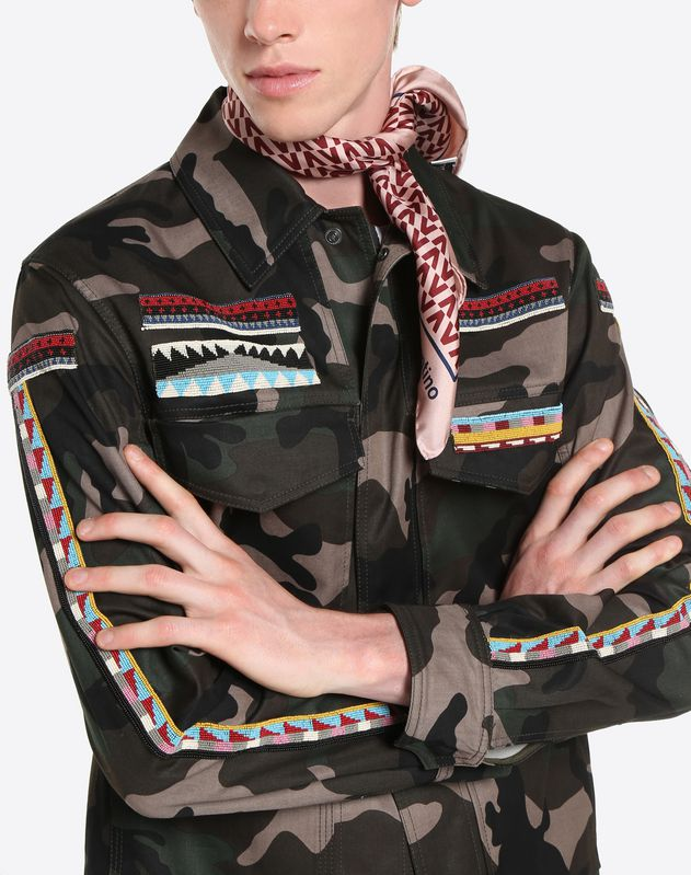 SAFARI JACKET WITH GEOMETRIC EMBROIDERY
