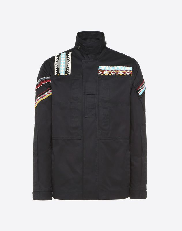 BLOUSON WITH GEOMETRIC EMBROIDERY