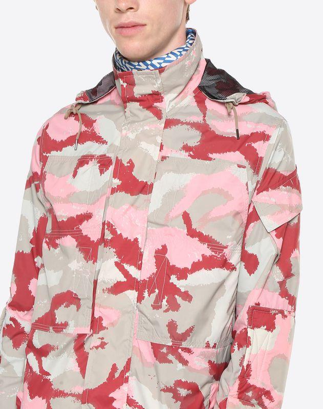 카무아트 프린트 나일론 재킷