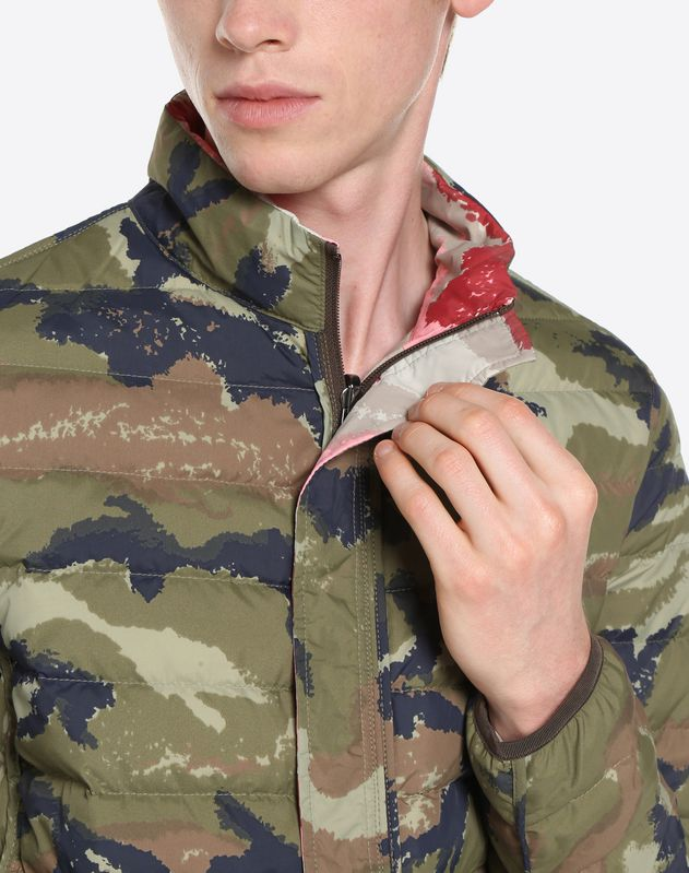 CAMOUART REVERSIBLE DOWN COAT