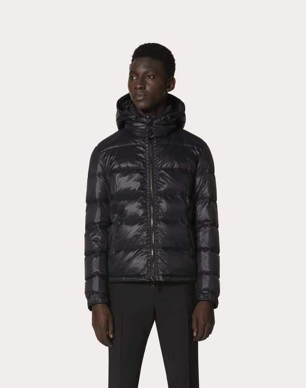 ROCKSTUD UNTITLED HOODED PUFFER COAT