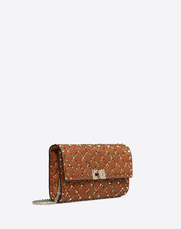 Multicolour Rockstud Spike.it crossbody clutch