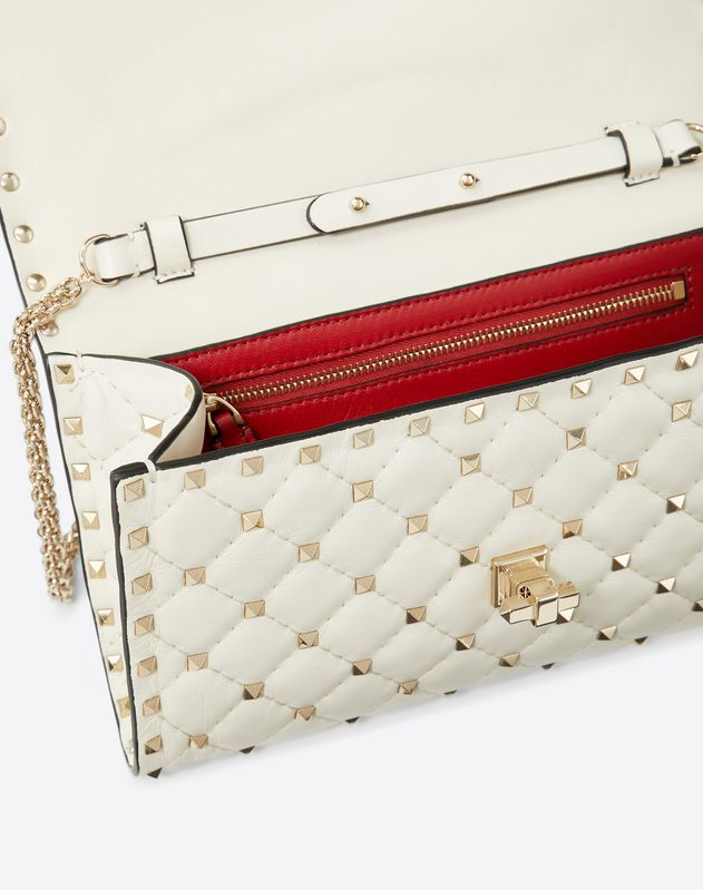 Hibiscus embroidery Rockstud Spike.it crossbody clutch