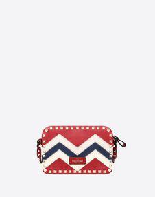 Small Chevron motif Rockstud crossbody bag