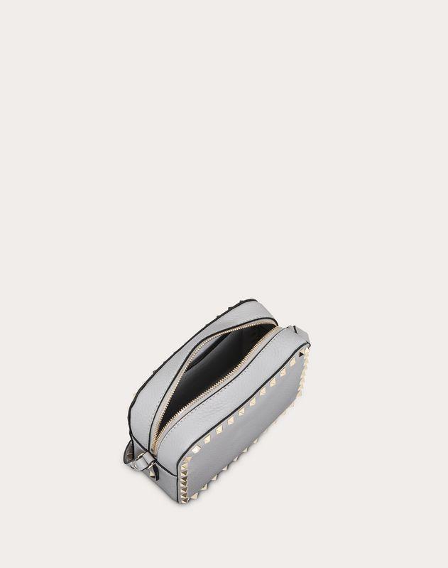 Small grain calfskin leather Rockstud crossbody bag
