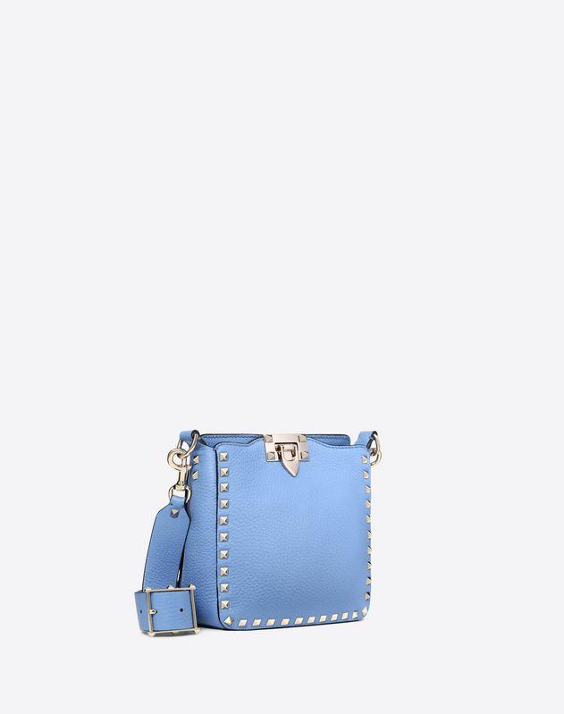 Mini grain calfskin leather hobo Rockstud bag