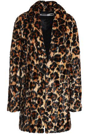 McQ Alexander McQueen Leopard-print faux fur coat