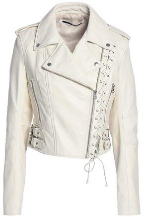 McQ Alexander McQueen Lace-up leather biker jacket