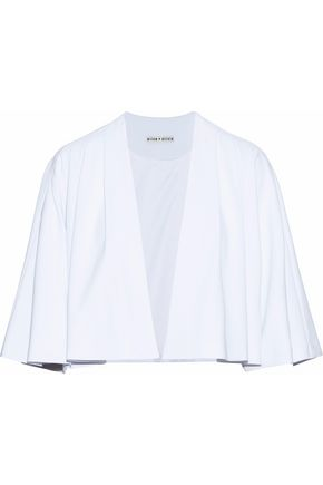 ALICE + OLIVIA Marjory cropped pleated crepe jacket