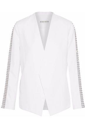 ALICE + OLIVIA JEANS Hayes embellished tulle-trimmed crepe blazer