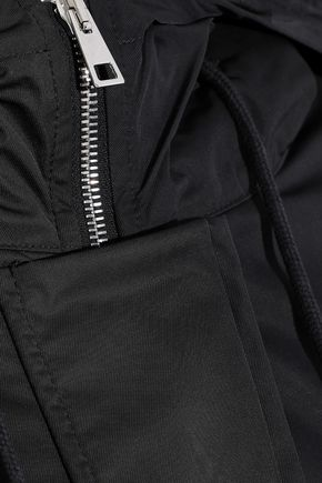 THEORY Shearling-trimmed shell down hooded jacket