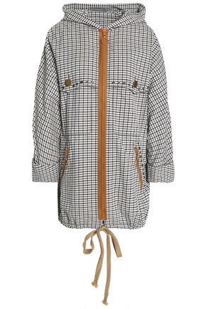 SONIA RYKIEL Checked jacquard hooded jacket