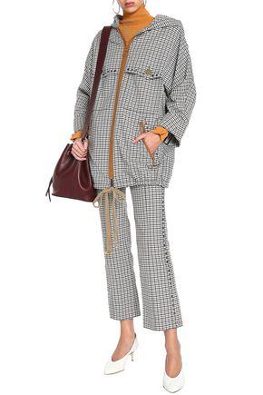 SONIA RYKIEL Checked jacquard hooded jacket