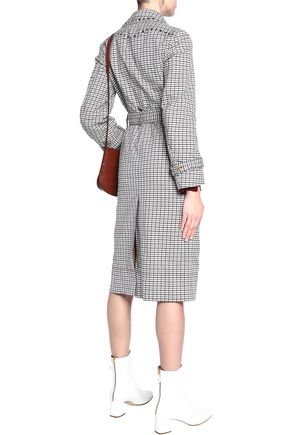 SONIA RYKIEL Double-breasted checked jacquard trench coat