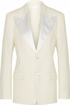 MAISON MARGIELA Satin-trimmed wool-blend twill blazer