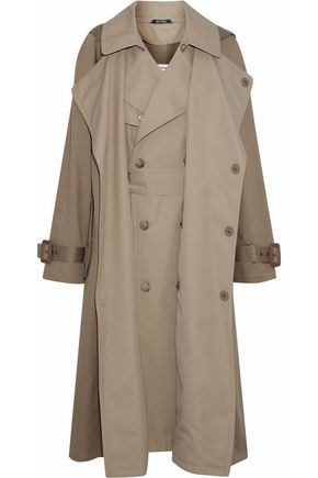 MAISON MARGIELA Layered cotton-gabardine hooded trench coat