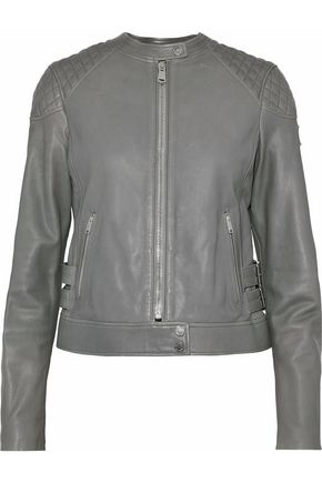 BELSTAFF Clark buckle-embellished leather biker jacket