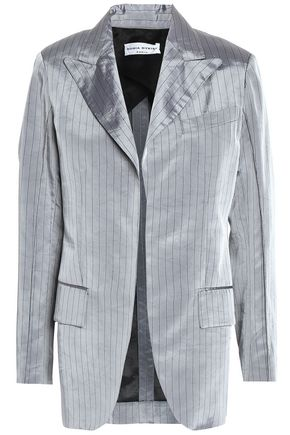 SONIA RYKIEL Pinstriped crushed satin-twill blazer
