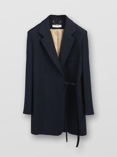 Waist-tie jacket