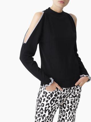 네이키드 숄더 스웨터