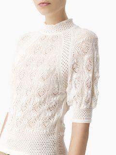 Pull manches courtes en laine alpaga