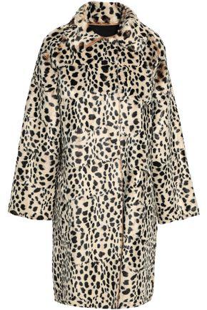 NORMA KAMALI Leopard-print faux fur coat