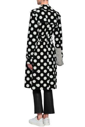 NORMA KAMALI Polka-dot stretch-jersey coat