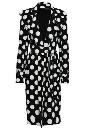 NORMA KAMALI Polka-dot stretch-jersey coat