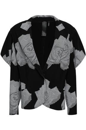 NORMA KAMALI Printed stretch-jersey blazer