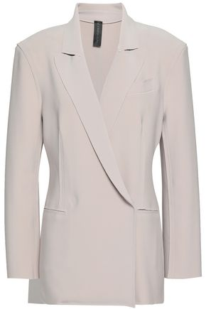 NORMA KAMALI Double-breasted stretch-jersey blazer