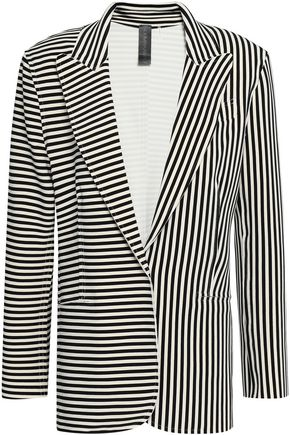 NORMA KAMALI Striped stretch-jersey blazer