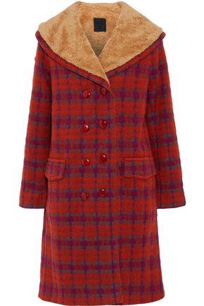 ANNA SUI Faux shearling-trimmed bouclé coat