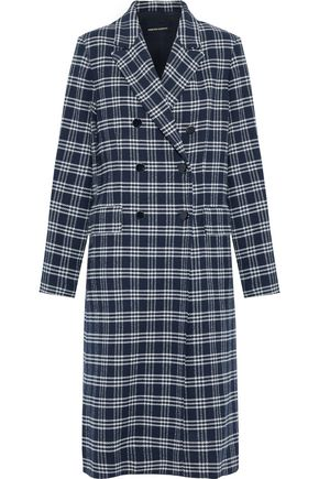 VANESSA SEWARD Dorian double-breasted checked cotton-blend coat