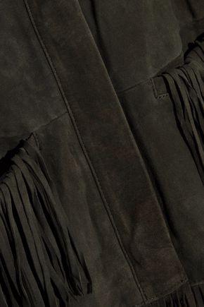 L'AGENCE Maybury fringed suede jacket