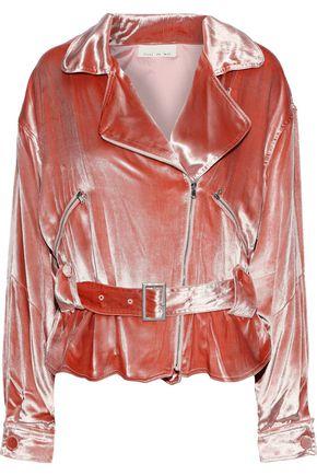 FLEUR DU MAL Velvet biker jacket