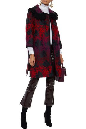 ANNA SUI Floral-jacquard jacket