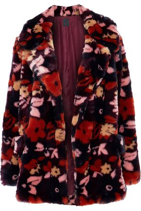 ANNA SUI Printed faux fur jacket