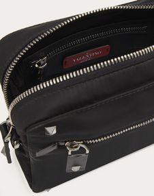 SMALL NYLON SHOULDER BAG WITH VLTN RIBBON STRAP