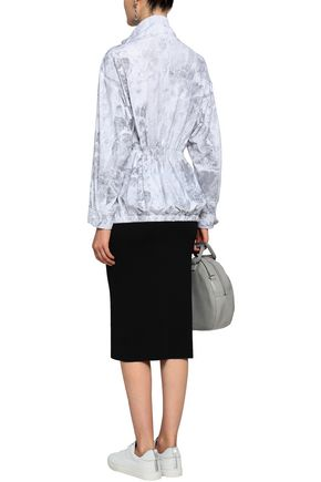 NORMA KAMALI Printed tech-jersey turtleneck jacket